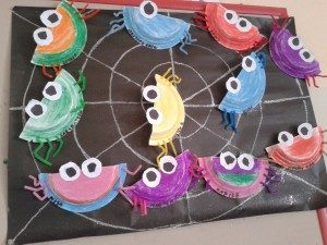 spider-paper-plate-bulletin-board-ideas