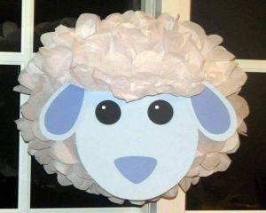 tissue paper sheep  craft