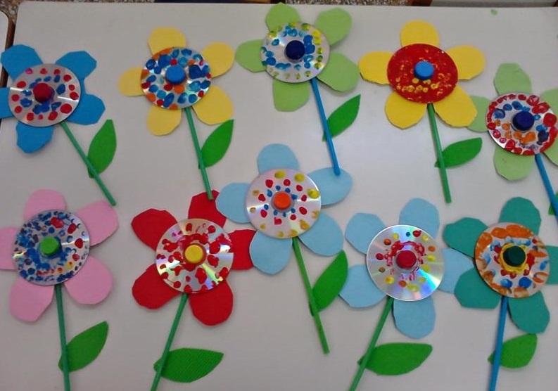 cd flower craft ideas 1 funnycrafts