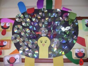 cd-peacock-bulletin-board-idea