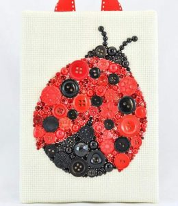 button-ladybug-craft