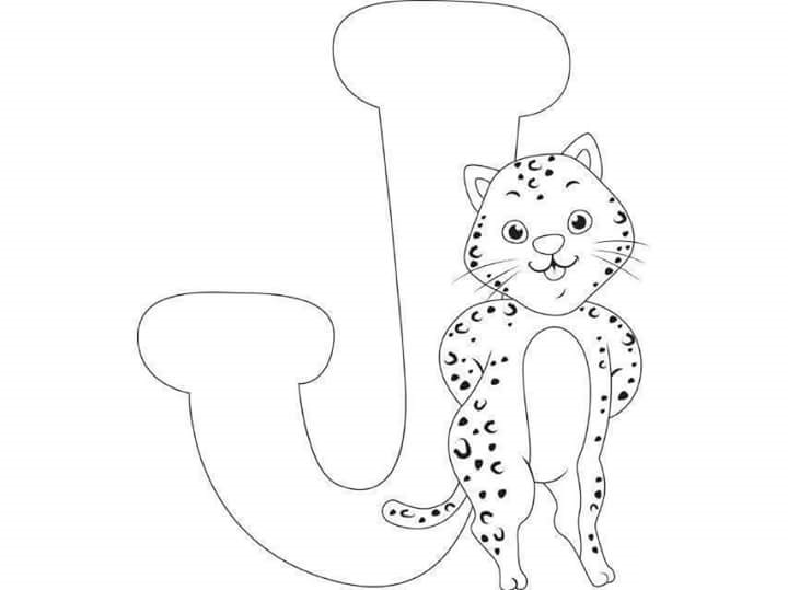 j is for coloring pages - photo #48