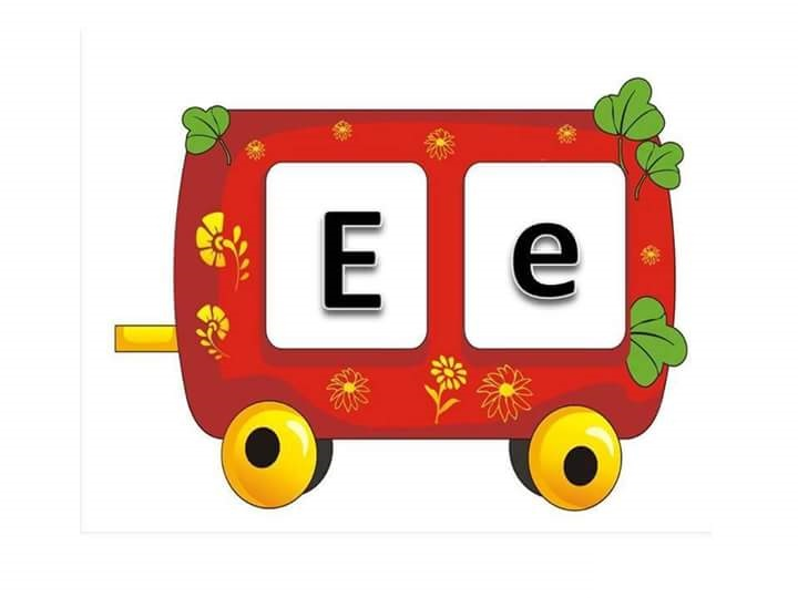 learn letter e with the train