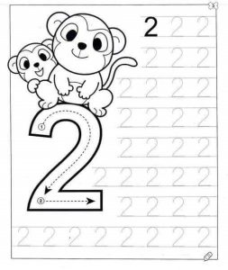 number-two-tracing