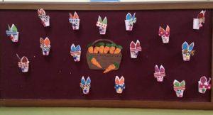 paper-cup-bunny-bulletin-board-idea