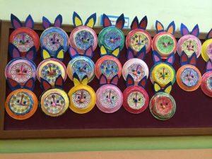 paper-plate-bunny-bulletin-board