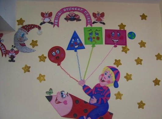 Shapes bulletin board ideas classroom decorations for
