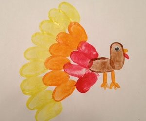 thumb-print-turkey-craft