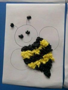 tissue-paper-bee-craft