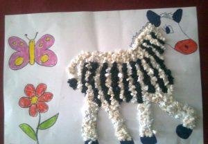 tissue-paper-zebra-craft