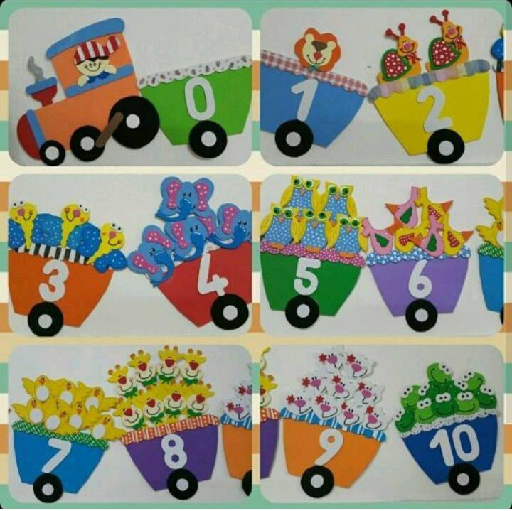 Train Number Craft on Recycle Worksheets For Preschool Education Com
