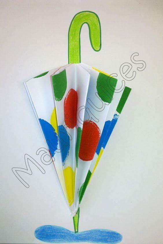 Umbrella Bird Preschool Craft