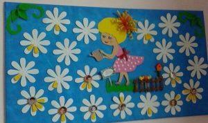 flower-spring-bulletin-board-idea