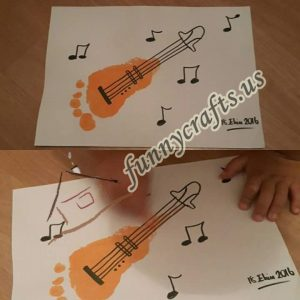 footprint-guitar-art-activities-crafts