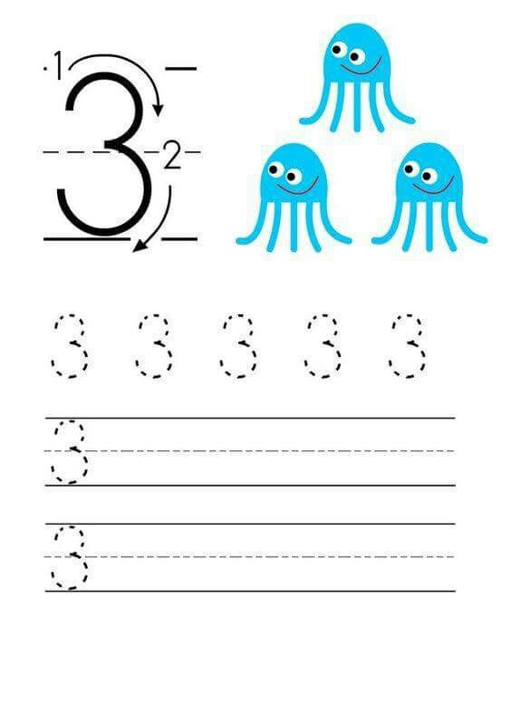 Number writing worksheets for kids | funnycrafts