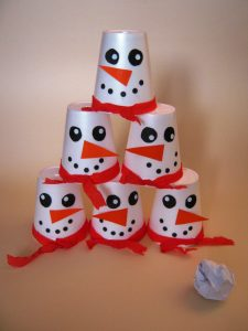 paper-cup-snowman-craft