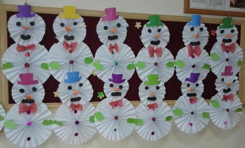 Snowman bulletin board ideas for preschool 1 Funnycrafts
