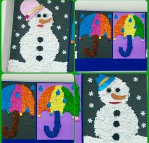 umbrella-and-snowman-craft