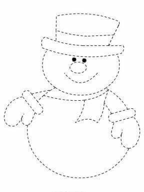 christmas decorations pre-writing activity sheets for kids ...