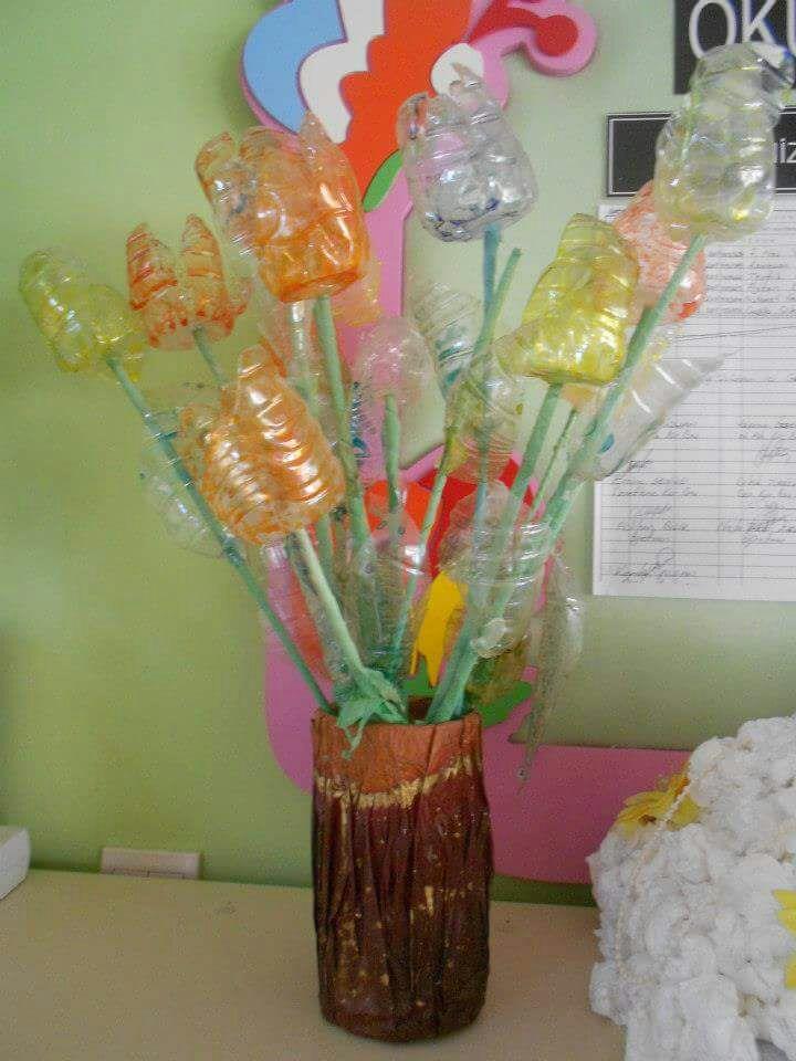 Plastic Bottle Flower Craft Funnycrafts