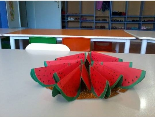 3D watermelon craft for kids
