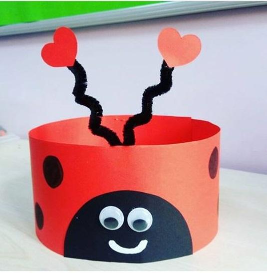 Ladybug hat craft for kids funnycrafts for Craft hats for kids