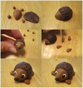 how_made_hedgehog_from_play_dough