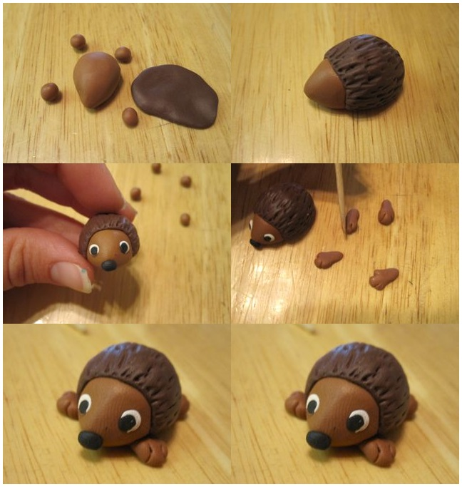 how_made_hedgehog_from_play_dough