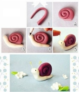 how_to_make_playdough_snail