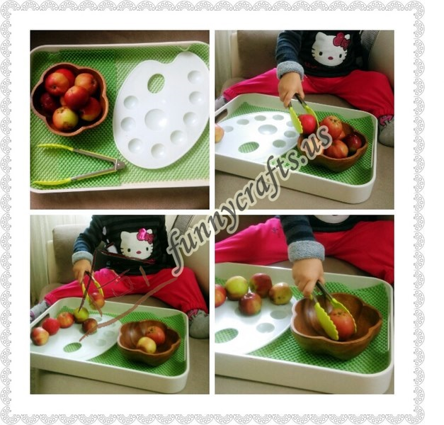 Photo of Apple transfer with tongs