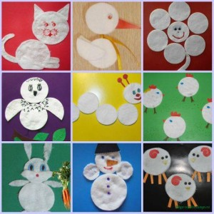 animals_craft_from_cotton_pads