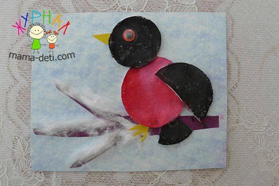 cotton_pad_bird_craft