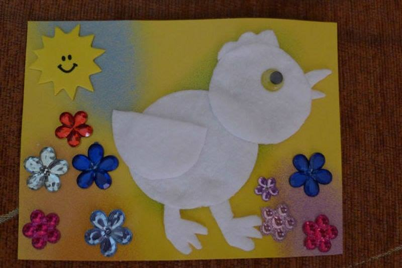 cotton_pad_funny_craft_ideas_for_preschoolers