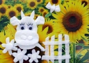 kids_crafts_from_cotton_pad