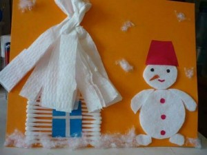 winter_crafts_using_cotton_balls