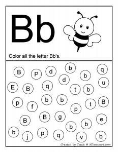 B alphabet coloring
