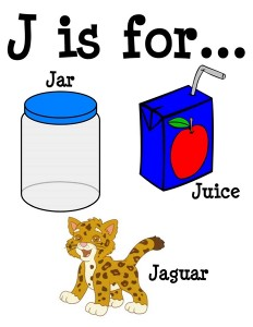 J is for alphabet poster