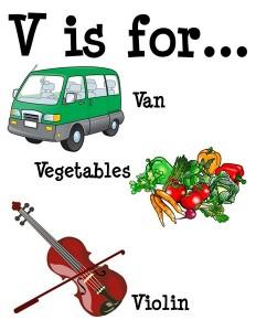 V is for alphabet poster