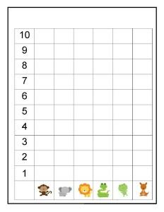 animals graph activities