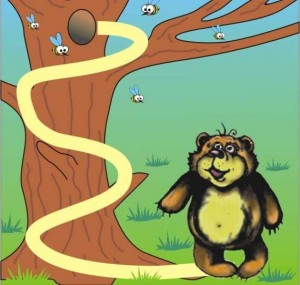 animals labyrinth bear