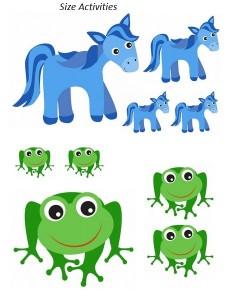 animals size preschool