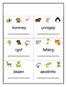 animals word
