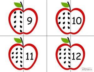 apple number puzzle for kıds