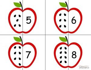 apple number puzzle preschool