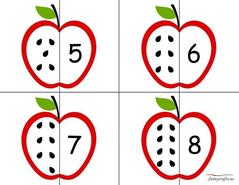apple number puzzle preschool u00ab funnycrafts