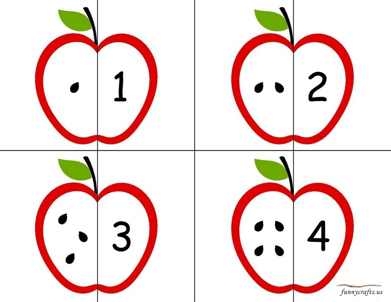 Apple Number Puzzle 171 Funnycrafts