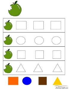 apple shapes activities