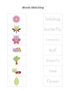 bugs word matching