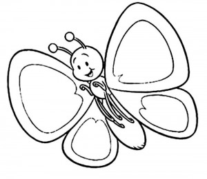 butterfly coloring fıne motor