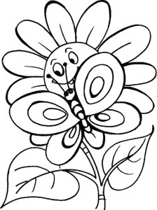 butterfly coloring for children
